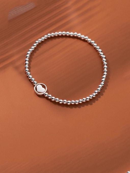 Rosh 925 Sterling Silver Bead Geometric Minimalist Beaded Bracelet 1