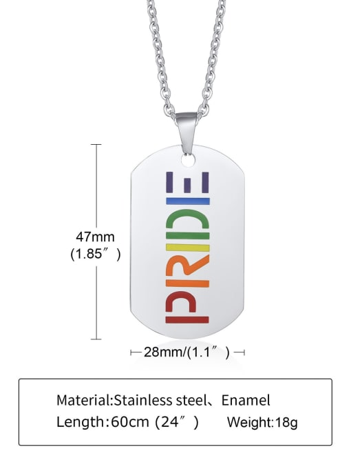 CONG Titanium Steel Enamel Geometric Minimalist Necklace 2
