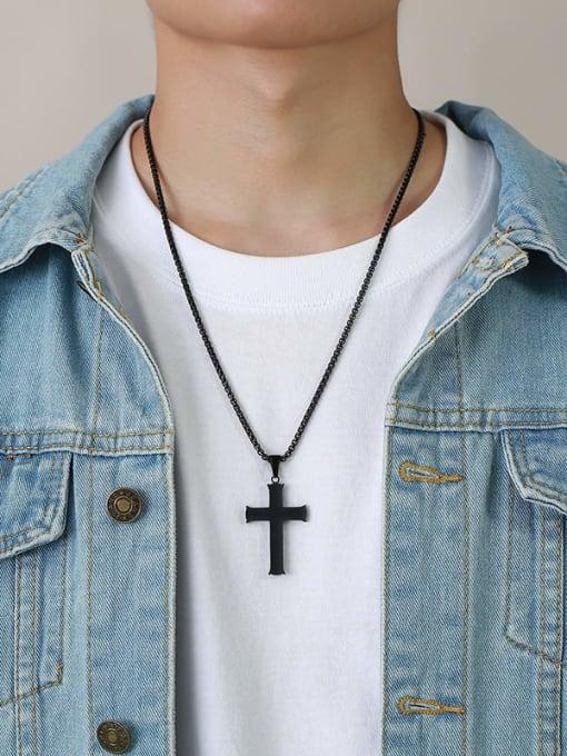CONG Titanium Steel Cross Minimalist Necklace 1