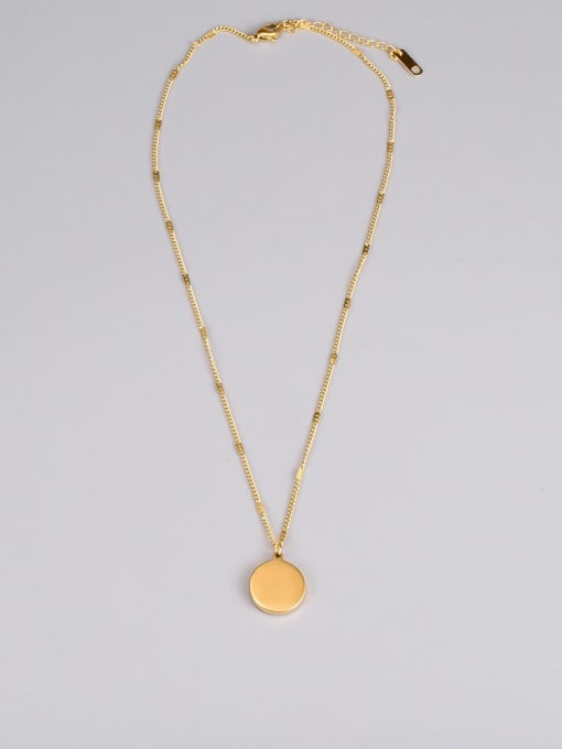 A TEEM Titanium Steel Sun Smiley Minimalist Necklace 3