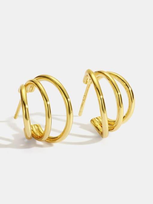 CHARME Brass Geometric Minimalist Stud Earring 0