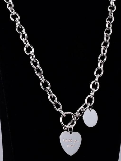 A TEEM Titanium Heart Vintage Hollow  Chain  Necklace