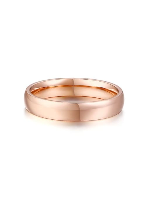 CONG Titanium Steel Round Minimalist Band Ring 3