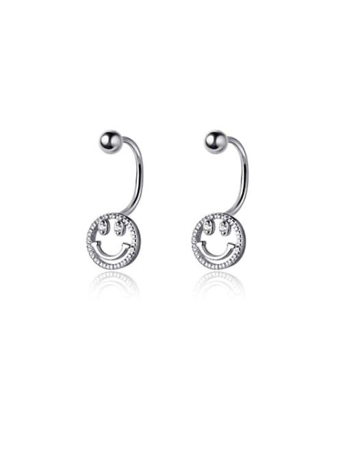 Rosh 925 Sterling Silver Smiley Cute Stud Earring 4