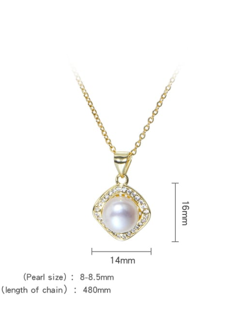 RAIN Brass Freshwater Pearl Minimalist Geometric  Earring Ring and Necklace Set 4
