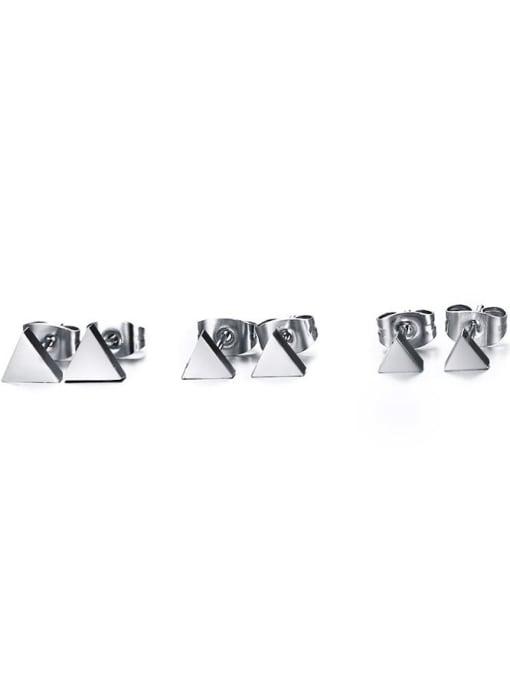 CONG Titanium Steel Triangle Minimalist Stud Earring 4