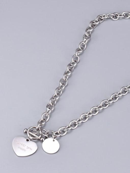 A TEEM Titanium Heart Vintage Hollow  Chain  Necklace 3