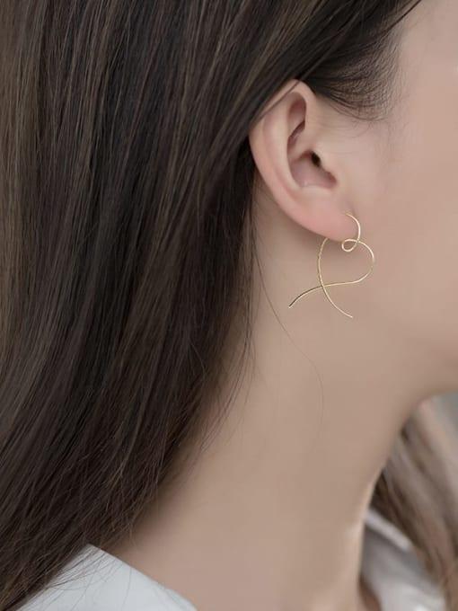 Rosh 925 Sterling Silver Heart Minimalist Hoop Earring 3