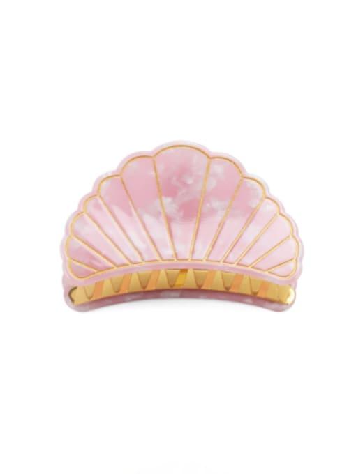 Nude Pink Trumpet Cellulose Acetate Minimalist Geometric Zinc Alloy Jaw Hair Claw