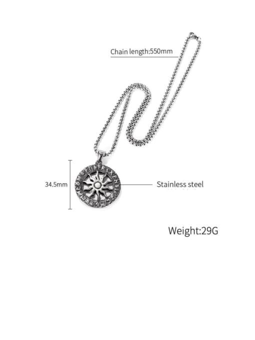 Open Sky Titanium Steel Geometric Hip Hop Necklace 4