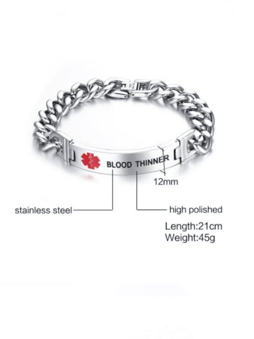 CONG Titanium Steel Geometric Minimalist Link Bracelet 2