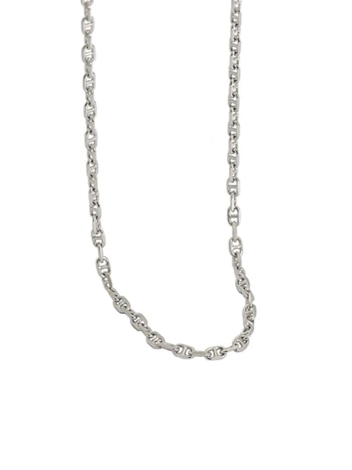 Dak Phoenix 925 Sterling Silver Hollow Geometric Minimalist Chain Necklace 4