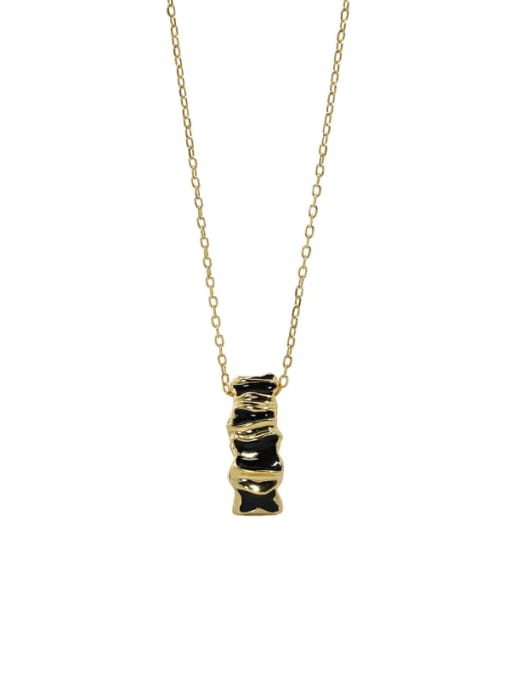 18K Gold 925 Sterling Silver Cubic Zirconia Geometric Vintage Necklace
