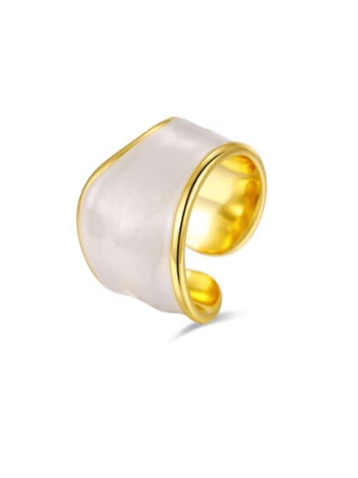 Boomer Cat 925 Sterling Silver Enamel Geometric Minimalist Band Ring 0