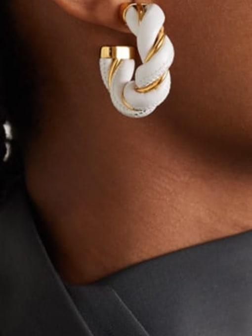LI MUMU Brass Geometric Vintage Stud Earring 3