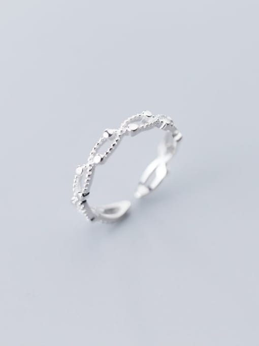 Rosh 925 Sterling Silver Cubic Zirconia  Irregular Minimalist Band Ring 1