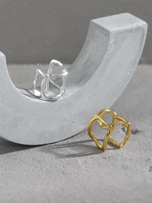 DAKA 925 Sterling Silver Hollow Geometric Minimalist Single Earring 2