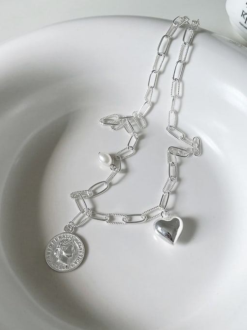 Boomer Cat 925 Sterling Silver Heart Vintage Necklace 3