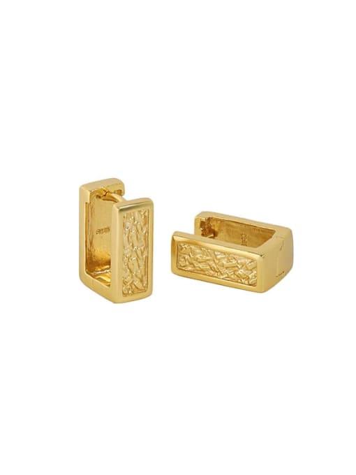 18K Gold 925 Sterling Silver Geometric Minimalist Stud Earring