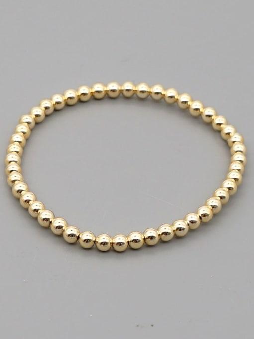 4mmQT B200110E Stainless steel Bead Round Minimalist Beaded Bracelet