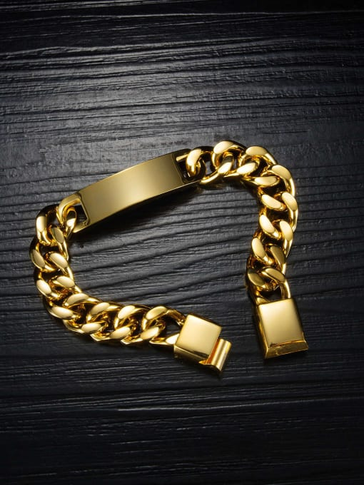 Open Sky Titanium Steel Geometric Vintage Link Bracelet 1