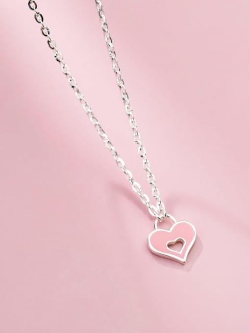 Rosh 925 Sterling Silver Enamel Heart Minimalist Necklace 0