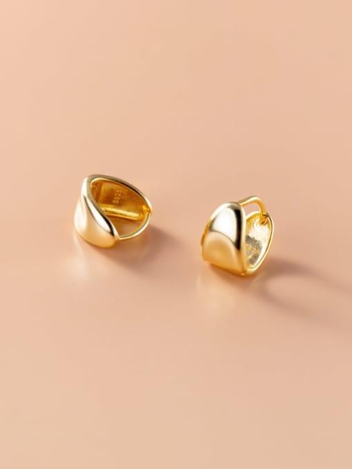 Rosh 925 Sterling Silver Geometric Minimalist Huggie Earring 0