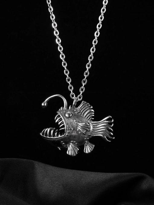 Open Sky Titanium Steel Fish Vintage Necklace 0