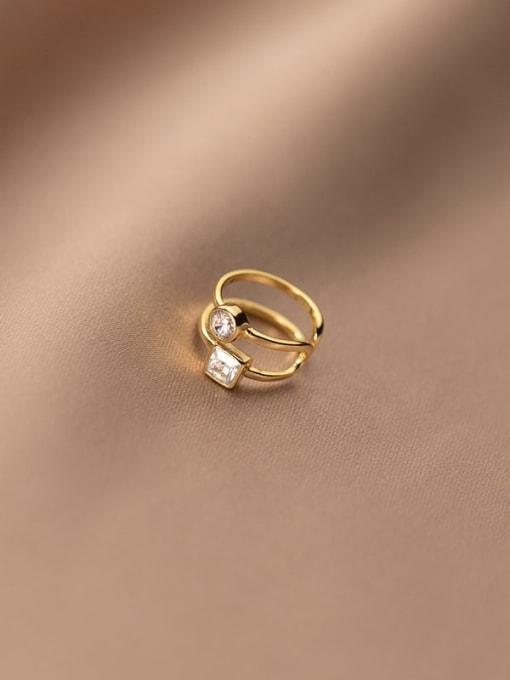 Rosh 925 Sterling Silver Rhinestone Geometric Minimalist Clip Earring 3