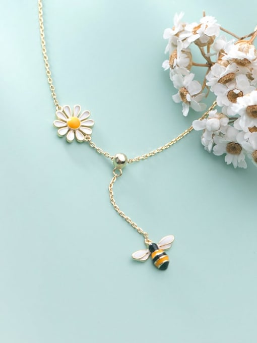 Rosh 925 Sterling Silver Enamel Insect Cute Lariat Necklace 2