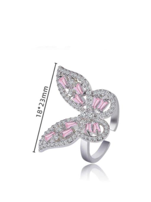 DUDU Brass Cubic Zirconia Butterfly Luxury Band Ring 3