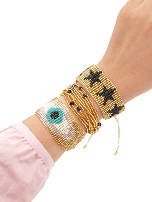 Roxi Multi Color MGB Bead Evil Eye Bohemia Adjustable Bracelet 0