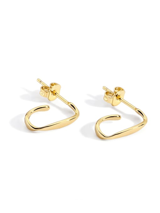 CHARME Brass Geometric Minimalist Stud Earring
