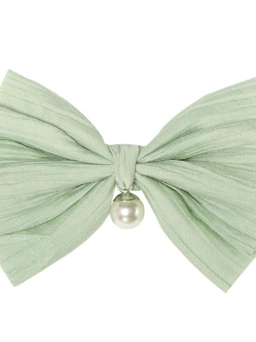 3 green grass Alloy Cotton Cute Bowknot  Multi Color Hair Barrette