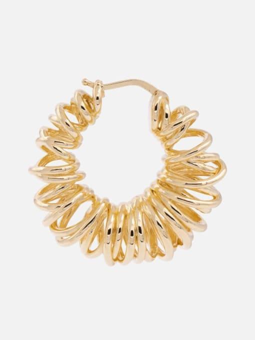 LI MUMU Brass Geometric Hip Hop Huggie Earring 1
