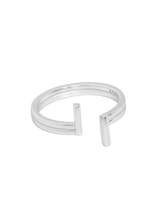 DAKA 925 Sterling Silver Irregular Minimalist Band Ring 3
