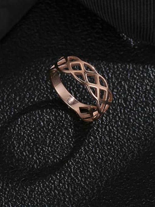MIYA Titanium Steel Geometric Hip Hop Band Ring 0