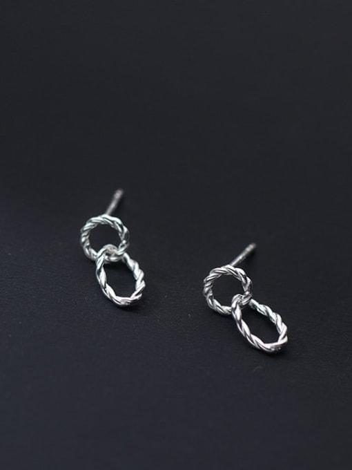 Rosh 925 Sterling Silver Geometric Minimalist Drop Earring 1