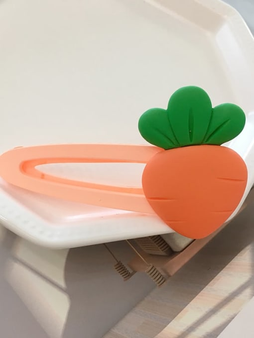 Carrot Alloy Resin Cute Friut  Hair Barrette