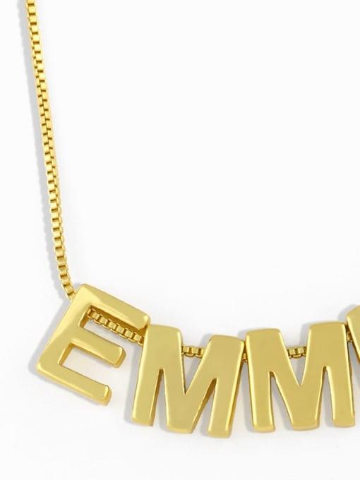 CC Brass Smooth Minimalist Letter Pendant 2