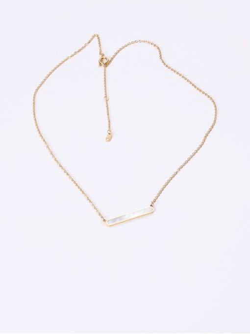 GROSE Stainless steel Shell Geometric Minimalist Necklace 1