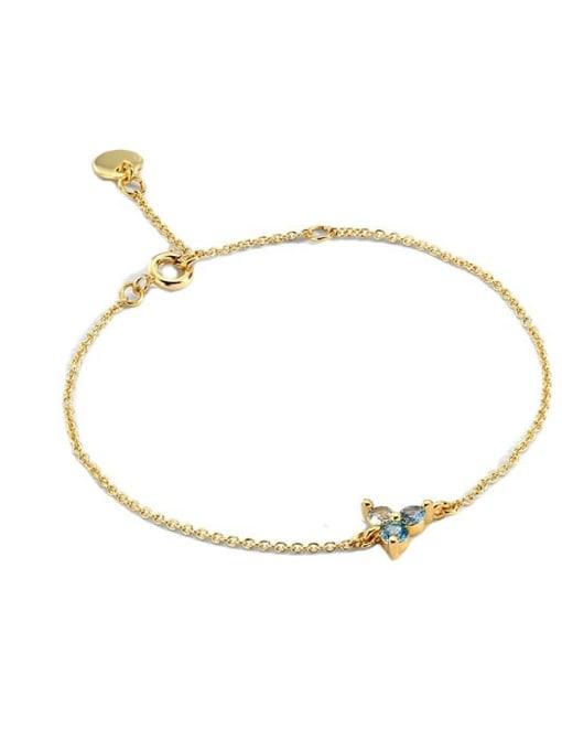 CHARME Brass Cubic Zirconia Flower Vintage Link Bracelet 4