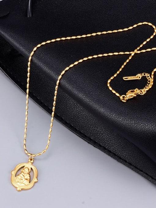 A TEEM Titanium Irregular Ethnic bead chain Necklace 1