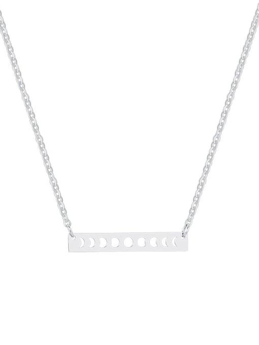 CONG Titanium Steel Smooth Geometric Minimalist Necklace 0