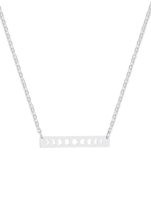CONG Titanium Steel Smooth Geometric Minimalist Necklace