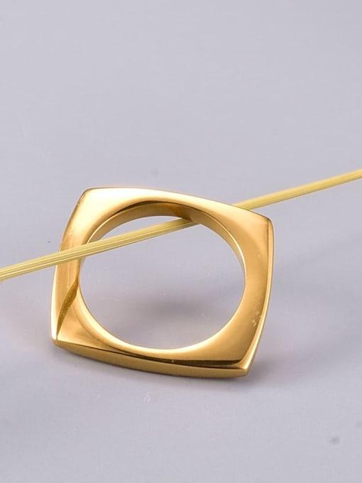A TEEM Titanium Steel Hollow Round Minimalist Band Ring 2
