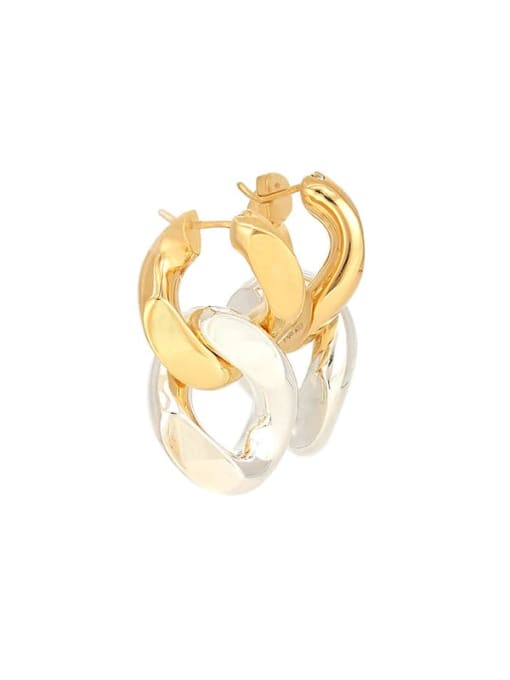 LI MUMU Brass Hollow Geometric Chain Vintage Drop Earring 0