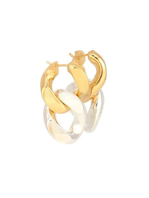 LI MUMU Brass Hollow Geometric Chain Vintage Drop Earring