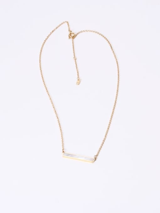 GROSE Stainless steel Shell Geometric Minimalist Necklace 2