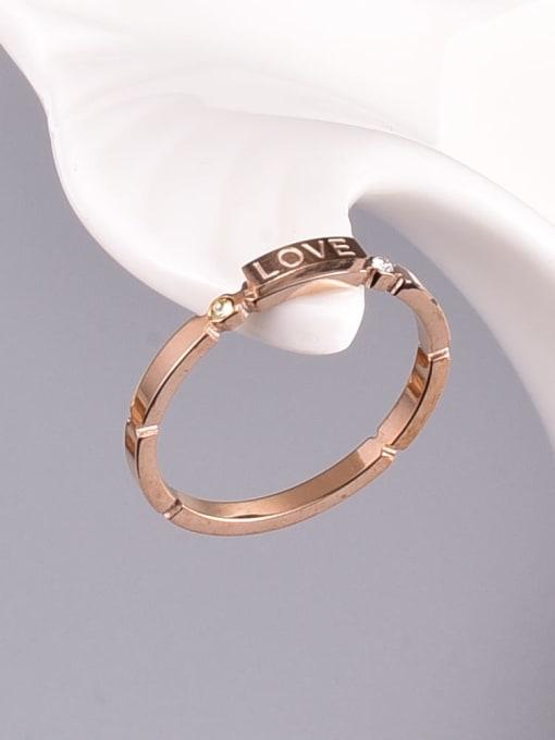 A TEEM Titanium Steel Letter Minimalist Band Ring 2